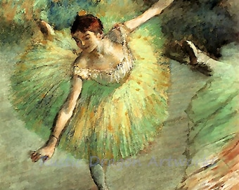 "Edgar Degas ""Dancer Tilting""  Ballet 1883 Reproduction Digital Print Vintage Print Wall Hanging"