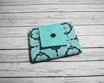 Womens Fabric Billfold Wallet, Credit Card Money Holder Bifold Wallet, Fabric Billfold, Womens Gift Under 30