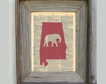 Alabama Print. Dictionary Art Print.