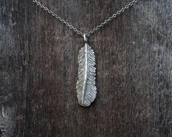 Nightbird Feather Pendant