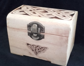 Celtic Knot on Hand Painted Wooden Box