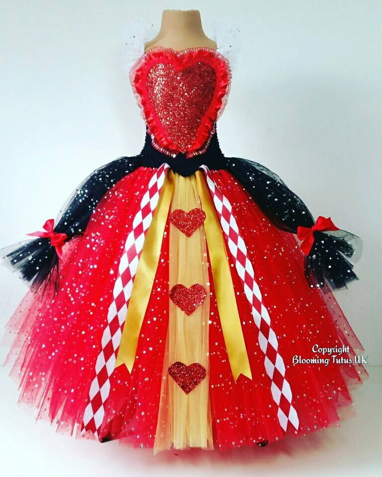 Queen of Hearts Inspired Super Sparkly Tutu Dress-Birthday