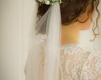 Boho wedding veil - Pelican Rose Bride 'Flower Bar' rustic boho bridal veil in either white or ivory - 'Montacute' veil