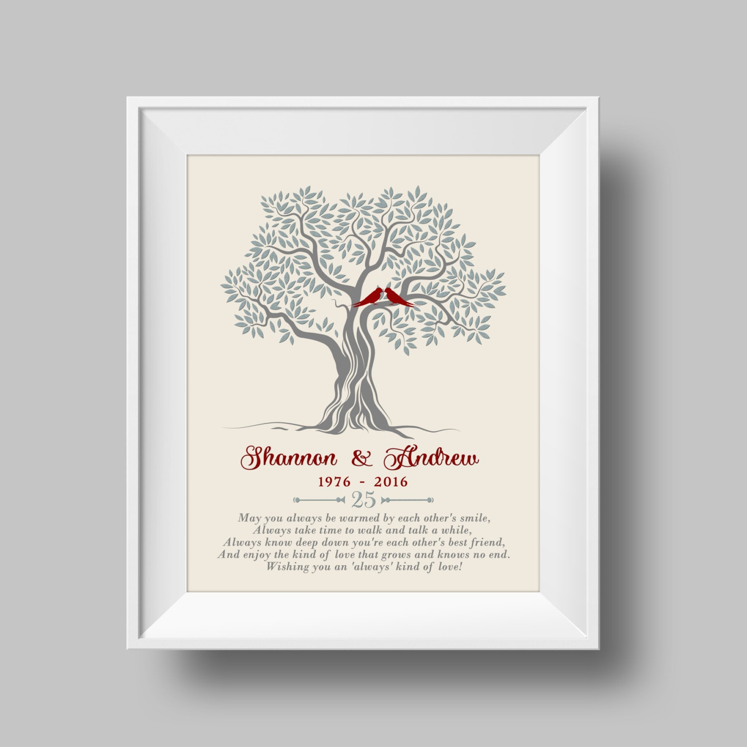 Gifts For Him For 25th Wedding Anniversary: 25th Anniversary Gift For Parents 25th Wedding Anniversary