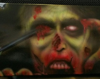 Airbrushed Zombie skateboard