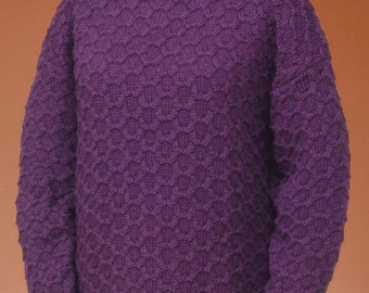 Honeycomb Cable Pullover #131 PDF knitting PATTERN ONLY