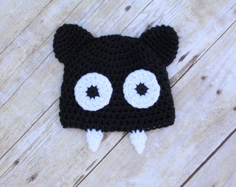 Bat Hat, Child Baby Newborn Bat Hat, Halloween Hat, Baby Newborn Halloween Hat, Bat Costume, Halloween Costume, Fall Hat, Crochet Bat Hat