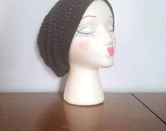 "Women's Slouchy Beanie ""Pine"" - Crochet Beanie - Hipster Beanie - Summer Beanie - Dread Tam - Rasta Tam - Girls Slouch Hat - Crochet Hats"