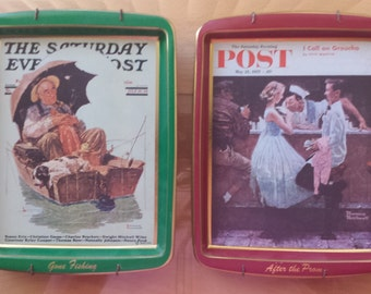 Saturday Evening Post Normal Rockwell Collector Tins - 2 total 1960s D443-2