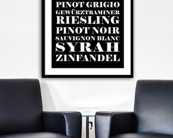 Wine Print, Wine Artwork, Wine Wall Art, Wine Home Decor, Wines Print Part 33