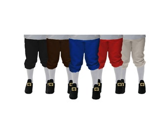 Children's Colonial Knickers or Breeches, Pirate, Dance, Renaissance, News Boys, Williamsburg, Reenactment, Halloween Clothing Accessory