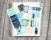 Blue Feather MINI Kit, MATTE Planner Stickers