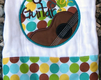 G is for Guitar Burp Cloth