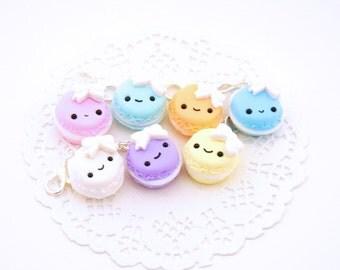 Pastel Kawaii Macaron Polymer Clay Charm - Macaroon Planner Charm - Macaron Planner Charm - Kawaii Planner Accessories - Kawaii Charm