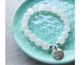 Moonstone Fertility Bracelet 8mm Genuine Gemstones