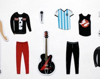 Julian Casablancas - Music & TV - Illustrated Fridge Magnets - Original Gift - Paper Doll