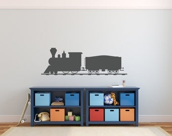 Train Wall Decal - Nursery Decor Bedroom Wall Train Decal Nursery Decal Thomas the Train Decor Train Birthday Party Decor