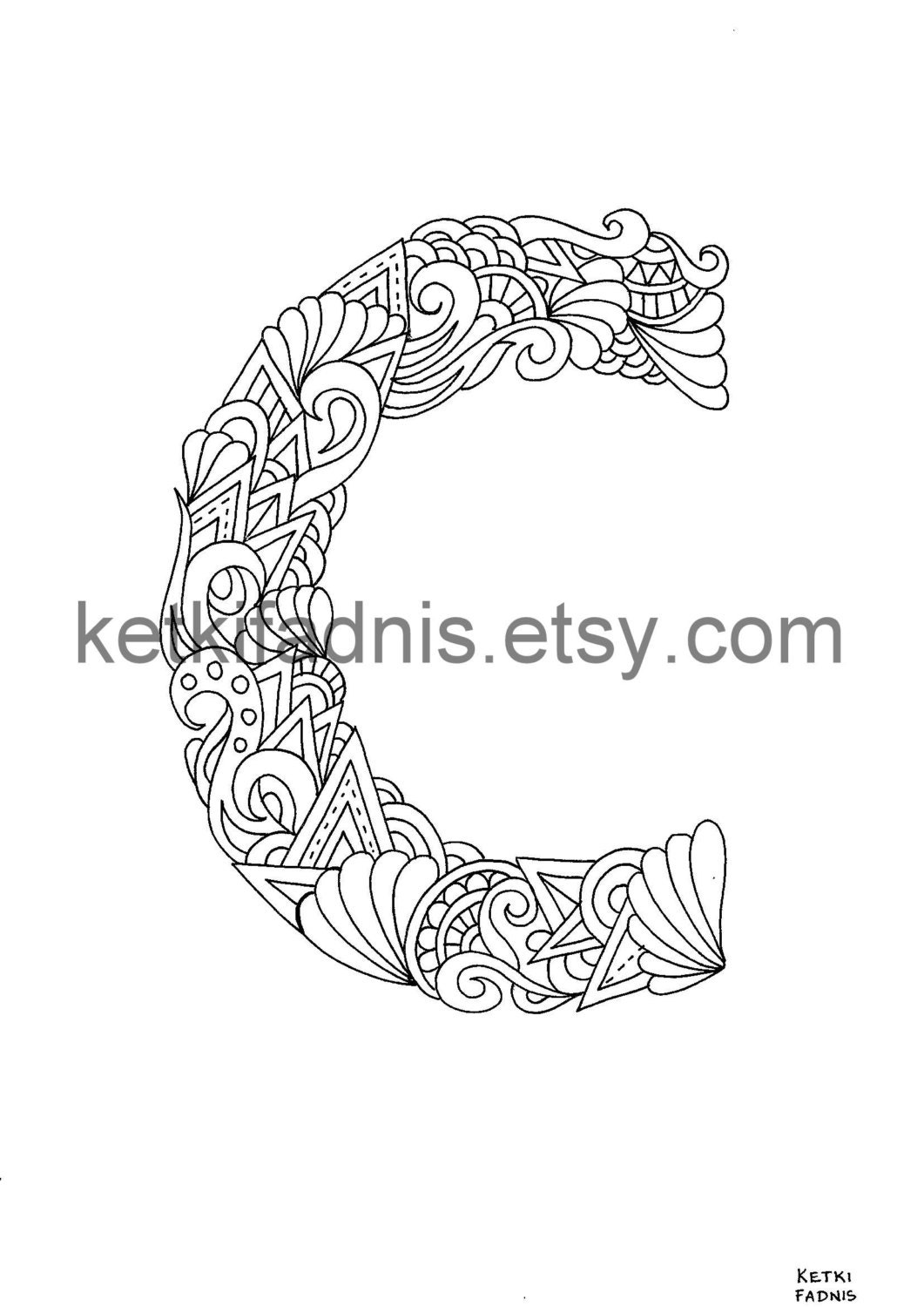 letter c coloring page instant pdf download alphabet coloring