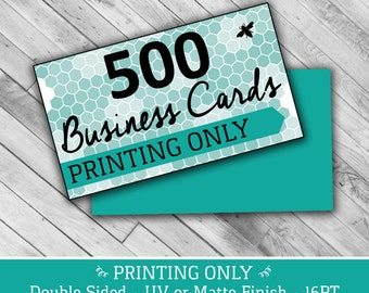 "500 PRINTING ONLY Business Cards - 2"" x 3.5"" 16PT UV or Matte Finish"