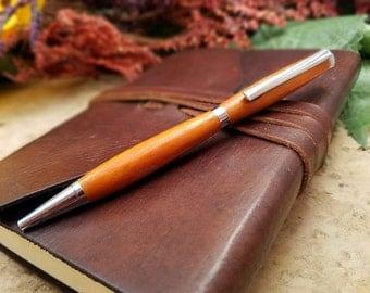 Wooden Pen - Wood Pen - Chatke Viga Wood- Wooden Gift - Wood Gift - Medium Ballpoint Pen - Writing Pen - Wooden Gifts For Men - Handmade Pen