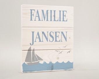 Maritim, door sign door sign, family shield