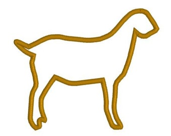 Embroidery Applique File Design Pattern Show Goat