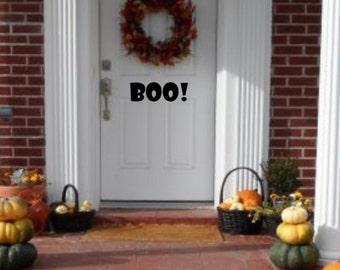 SALE - Halloween Front Door Vinyl Decal - Boo Decal - Boo Halloween Vinyl Decal - Halloween Indoor Decor - Halloween Outdoor Decor