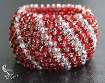 seed bead bracelet, beaded jewelry, beaded bracelet, bangle bracelet, statement bracelet, seed bead jewelry, czech glass beads, big bracelet