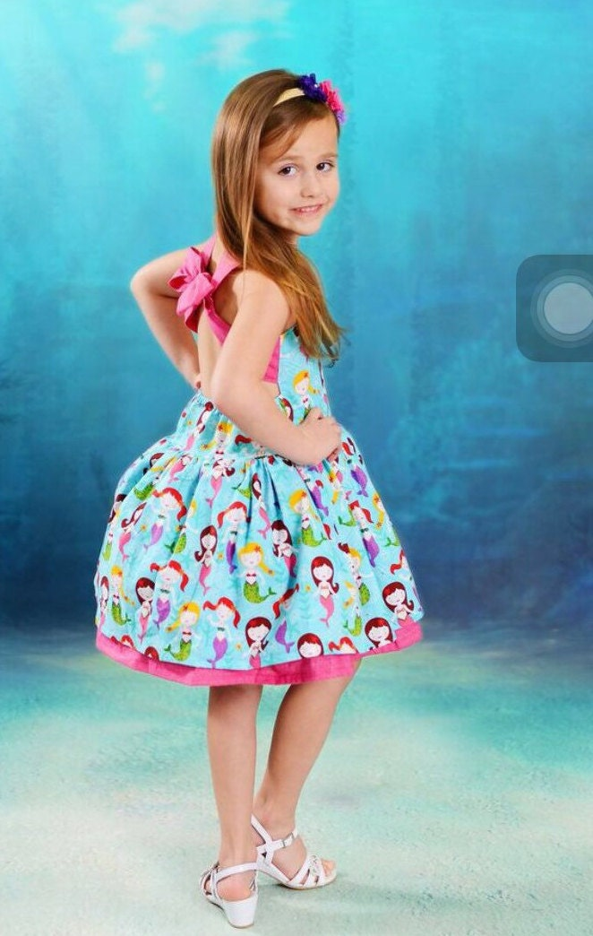 Girls Mermaid Dress Girls Underwater Dress By