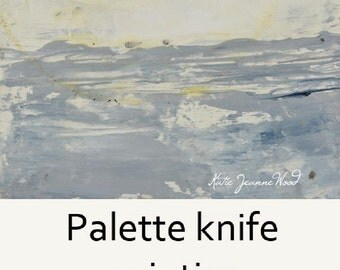White Abstract Palette Knife Art. White & Gray. Muted Colors. Modern Wall Decor.