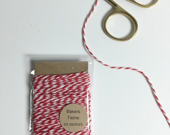 Baker's Twine in Red & White - 10 meters