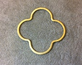 AVA Large Sized Gold Plated Copper Open Quatrefoil/Clover Shaped Components - Measuring 45mm x 45mm - Sold in Packs of 10 Components