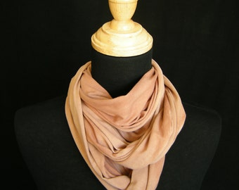 Naturally Dyed Cotton Infinity Scarf - Cutch Brown Cinnamon