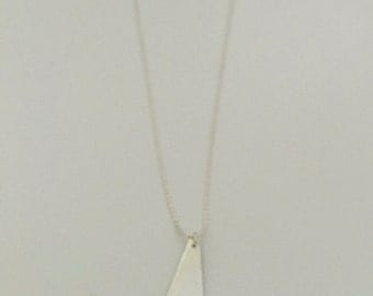 Geometric pendant necklace, fine silver with sterling silver chain