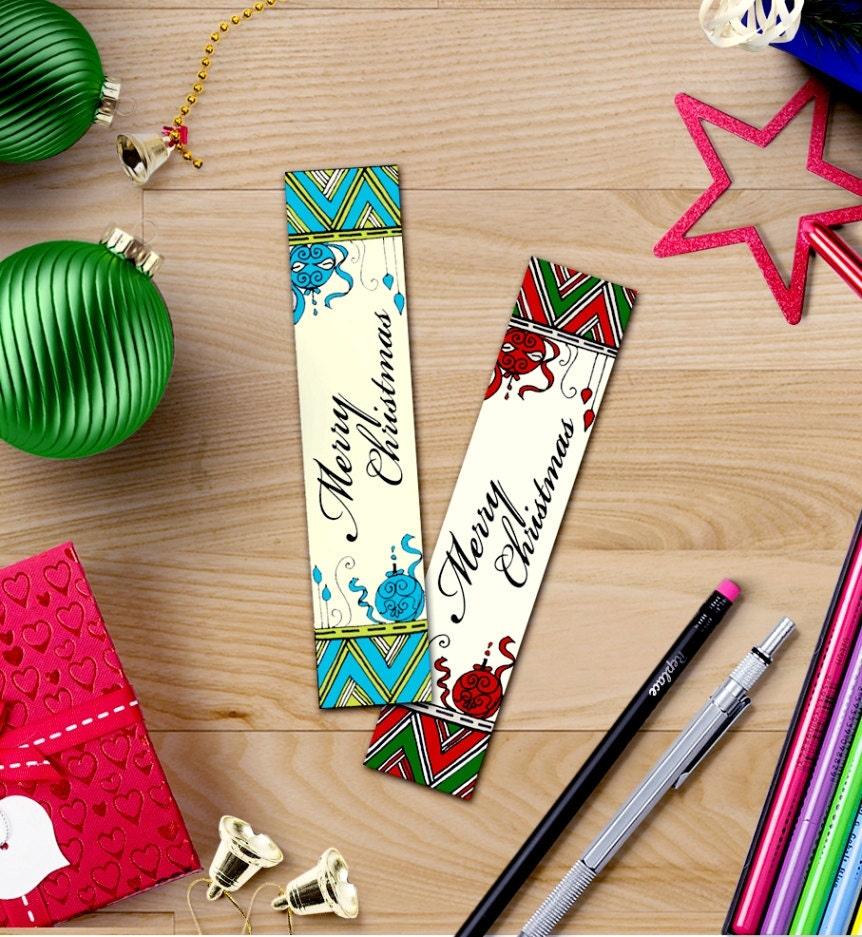 printable bookmarks Christmas coloring