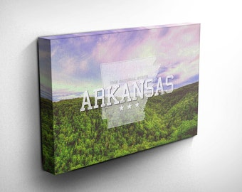 Arkansas Home State Canvas Art Print, Landscape Photography Wall and Home Decor, Birthday Gift Idea - with FREE SHIPPING