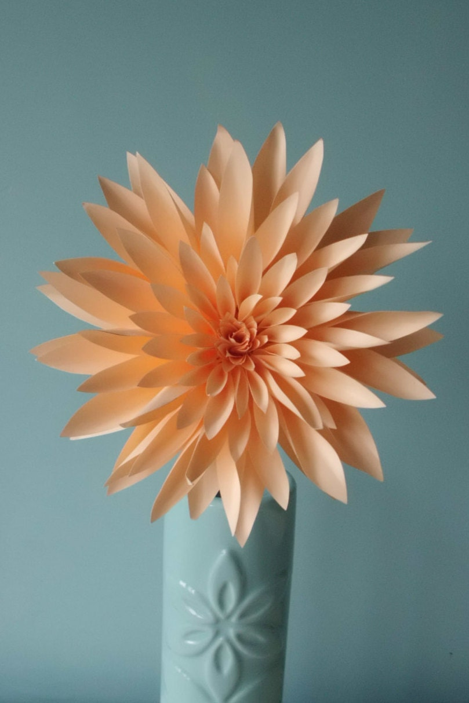 Paper Dahlia Realistic Paper Flower Table By Wearedcrafts