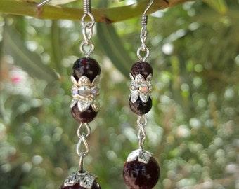 Ruby Garnet Earrings Free Shipping