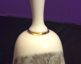 Avon Currier and Ives Porcelain Bell 1978