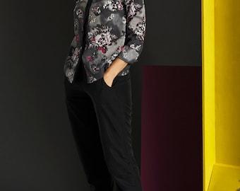 Button Floral Blouse - Office Blouse - Elegant Blouse - Buttoned Shirt - Long Sleeve Blouse - Floral Blouse - Sonja Blouse