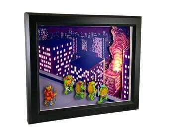 Teenage Mutant Ninja Turtles Arcade Shadow Box