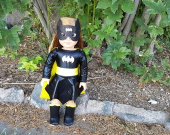 "Bat Girl costume for 18"" dolls, American Girl Bat Girl outfit"