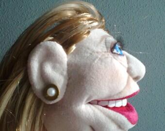 Hillary Clinton caricature puppet