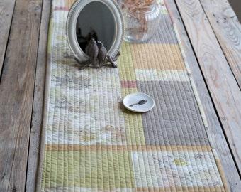 Table Runner, Quilted Table Runner, Quilted Runner, Wall Hanging, Art Quilt, Wall Decor, Wall Art, Eco Dyed, Decor, Textile Art, Runner