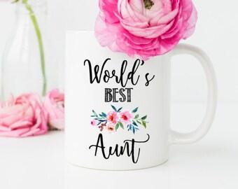 Aunt Mug, Worlds Best Aunt, Gift for Sister, Aunt Gift, New Aunt Mug, Aunt To be, Sister Mug