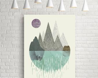 Wall art, prints, art print, minimalist print, abstract watercolor, artwork, modern decor, surreal art, home art, geometric, giclee, surreal