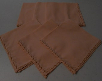 Peach Handmade Cotton Napkins (6)