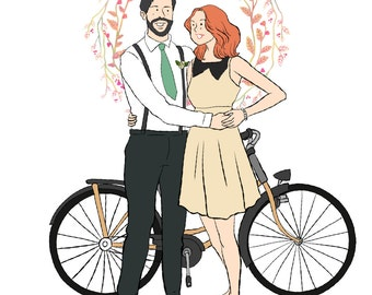 i will draw custom couple illustration
