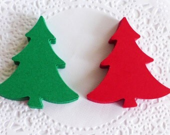 Christmas Tree, Red and Green Tree, Christmas Table Decor, Table Scaters, Cristmas Tree Ornaments