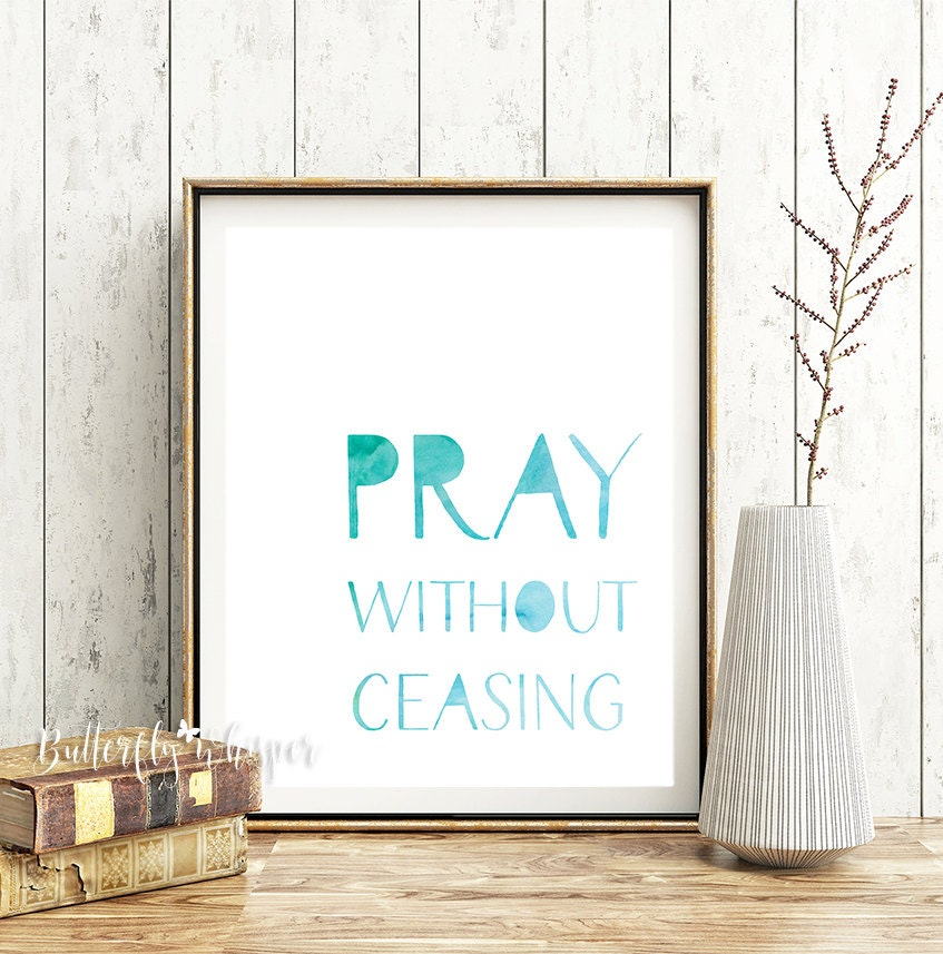 Pray without ceasing christian quote bible verse for Pray without ceasing coloring page